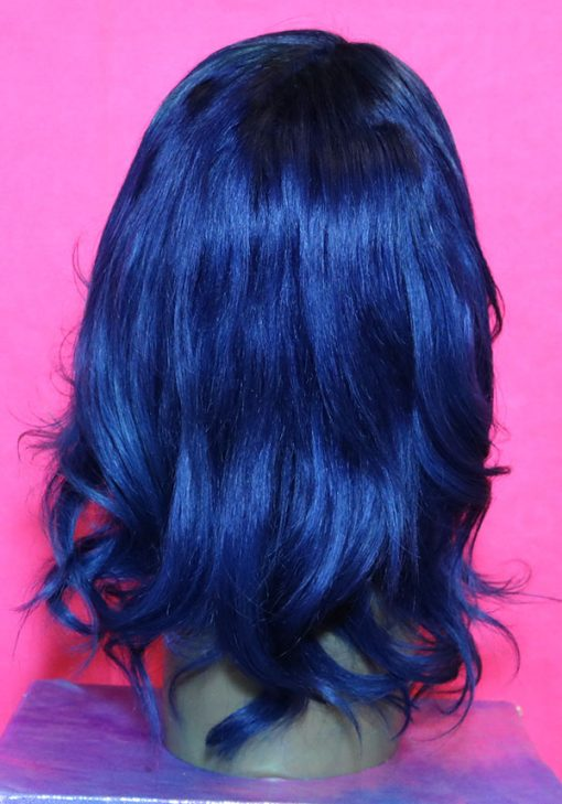 blue black wig