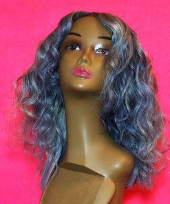 silver closure wig