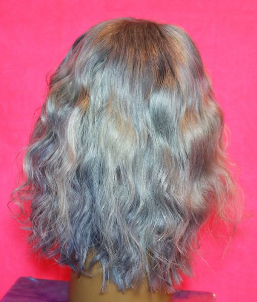 silver frontal wig